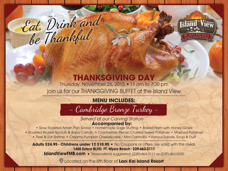Thanksgiving buffet special