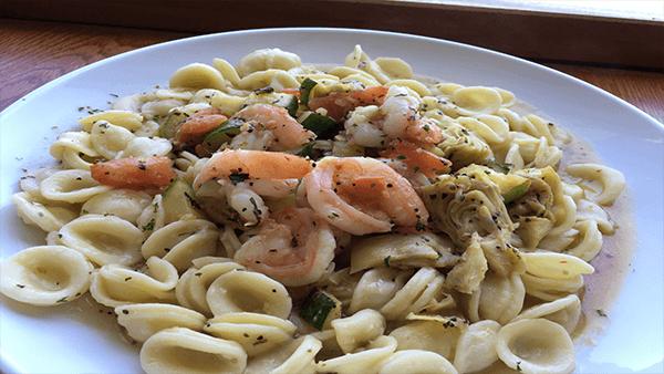 Shrimp with Zucchini and Artichoke Hearts-island-view-restaurant